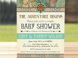 Adventure themed Baby Shower Invitations Vintage Map Couples Baby Shower Invitation Adventure Baby