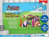 Adventure Time Party Invitation Template Adventure Time Birthday Invitation Template 1 by