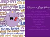 Adventure Time Party Invitation Template Adventure Time Party Diy Party Invitations Ideas