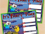 Adventure Time Party Invitation Template Free Printable Adventure Time Birthday Invitation