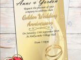Affordable 50th Birthday Invitations Templates Photo Invitations for Th Wedding Anniversary Als