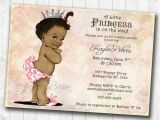 African American Baby Shower Invites African American Baby Shower Invitation for Girl Princess