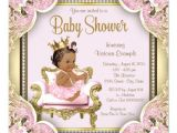 African American Baby Shower Invites African American Princess Baby Shower Invitation