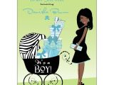African American Baby Shower Invites Hot Mama African American Blue Baby Shower Invitations