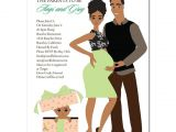 African American Couple Baby Shower Invitations African American Baby Shower Invitations Glam Couple