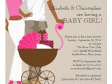 African American Couple Baby Shower Invitations African American Carriage Couple Baby Shower Invitation