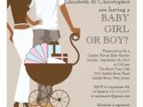 African American Couple Baby Shower Invitations African American Couple Gender Reveal Baby Shower 5 25×5