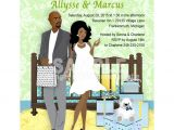 African American Couple Baby Shower Invitations L View Fullsize Image