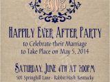 After Elopement Party Invitations Rustic Burlap Linen Post Wedding or Elopement