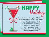 After the Holidays Party Invitations Christmas Cocktail Party Invitation Printable Holiday