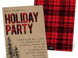 After the Holidays Party Invitations Flannel Party Holiday Party Invitation Pear Tree