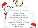 After the Holidays Party Invitations Penguin S Igloo Christmas theme Card is Flat with
