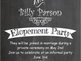 After the Wedding Party Invitations after the Wedding Party Invitations or Elopement Party