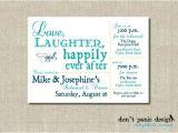 After Wedding Dinner Invitation Wording Printable Rehearsal Dinner Invitation Love Laughter