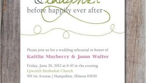 After Wedding Dinner Invitation Wording Rehearsal Dinner Invitation Happily Ever after 2215451