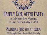 After Wedding Party Invitations Rustic Burlap Linen Post Wedding or Elopement