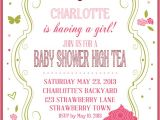 Afternoon Tea Baby Shower Invitations High Tea Baby Shower Invitations Party Xyz