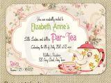 Afternoon Tea Party Invitation Ideas Cute Vintage Tea Party Invitation Digital Template