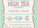 Afternoon Tea Party Invitation Ideas High Tea Invitation Printable for Bridal by