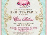 Afternoon Tea Party Invitation Ideas High Tea Invitation Template Invitation Templates J9tztmxz