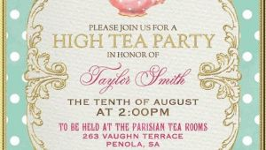 Afternoon Tea Party Invitation Ideas Tea Party Invitation High Tea Bridal Shower by