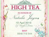 Afternoon Tea Party Invitation Ideas Victorian High Tea Party Invitations Surprise Party