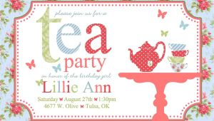 Afternoon Tea Party Invitation Template Free afternoon Tea Invitation Template