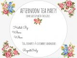 Afternoon Tea Party Invitation Template Free Printable High Tea Invitation orderecigsjuice Info