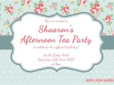 Afternoon Tea Party Invitation Template Invitation High Tea Template