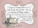 Afternoon Tea Party Invitation Wording Printable Tea Party Birthday Invitation 4 25 X by Cyanandsepia