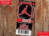 Air Jordan Baby Shower Invitations Basketball Air Man Ticket Invitation Mvp by