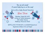 Airplane themed Baby Shower Invitations Airplane Aviator Baby Shower Invitations