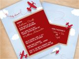 Airplane themed Baby Shower Invitations Airplane Baby Shower Invitation