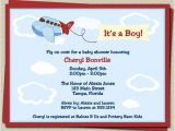 Airplane themed Baby Shower Invitations Airplane Baby Shower Invitations for Plane or by
