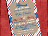 Airplane themed Baby Shower Invitations Airplane theme Baby Shower Invitation Vintage Invite 4×6 or