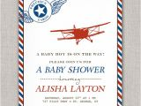 Airplane themed Baby Shower Invitations Items Similar to Precious Cargo Vintage Airplane Baby