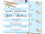 Airplane themed Baby Shower Invitations Vintage Airplane Baby Shower Invitation Pale by Libbylanepress
