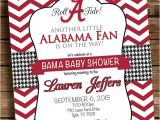 Alabama Baby Shower Invitations Alabama Baby Shower Invitation Football Birthday Party Bama