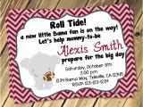 Alabama Baby Shower Invitations Alabama Baby Shower Invitation Print Your Own 5×7 or 4×6