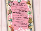 Alice and Wonderland Baby Shower Invitations Alice In Wonderland Invitation Bridal Shower Baby Shower