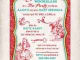 Alice and Wonderland Baby Shower Invitations Alice In Wonderland Personalized Printable Baby Shower