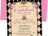 Alice In Onederland Birthday Invitations Alice In Ederland Birthday Invitation Alice 1st by