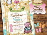 Alice In Onederland Birthday Invitations Alice In Ederland Invitation Alice In Wonderland
