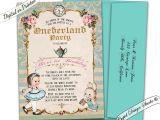Alice In Onederland Birthday Invitations Alice In Wonderland First Birthday Invitation Ederland