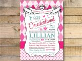 Alice In Onederland Birthday Invitations Alice In Wonderland Invitation 1st Birthday Party