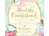 Alice In Onederland Birthday Invitations Best 25 Alice In Wonderland Invitations Ideas On