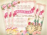 Alice In Onederland Birthday Invitations Printable Ederland First Birthday Party Invitation Alice