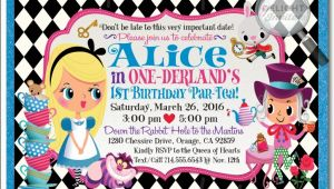 Alice In Onederland Birthday Invitations Reviews Custom Invitations and Announcements for All