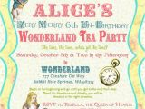 Alice In Wonderland Tea Party Invitation Ideas Alice In Wonderland Invitation Vintage Birthday Tea