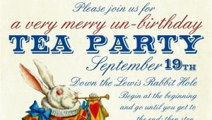 Alice In Wonderland Tea Party Invitation Ideas Invitation Alice In Wonderland Tea Party